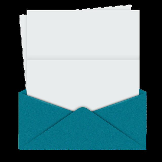 papír v obálce