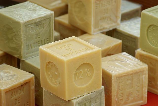 kostky mýdla