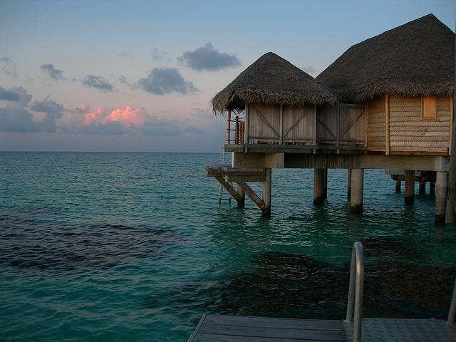 domky nad mořem
