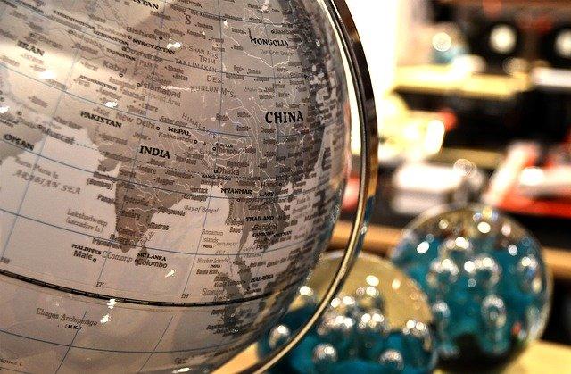 Čína na globusu