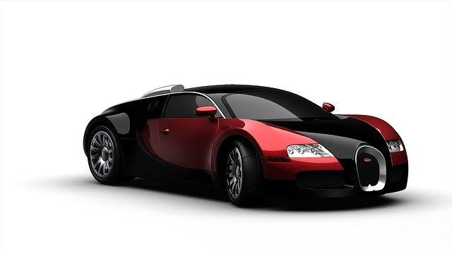 černočervený sportovní automobil