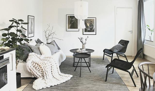 moderní byt černobílý