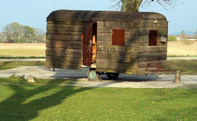 karavana ze dřeva